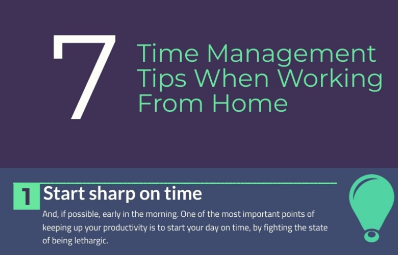 Infographic -7 Time Management Tips When Working From Home